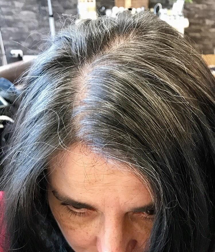 Ansatz graue färben haare Ansatz färben: